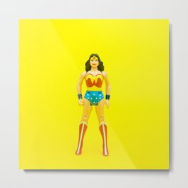 Super (Yellow) Metal Print