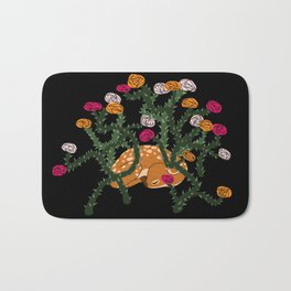 Fawn in Roses Bath Mat