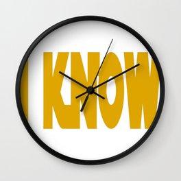 I-Know Wall Clock