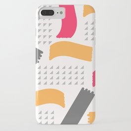 Modern triangles and happy colors iPhone Case