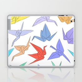 Japanese Origami paper cranes symbol of happiness, luck and longevity Laptop & iPad Skin