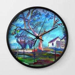 Blanco Texas Ranch House Wall Clock