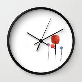 Lollipop trees Wall Clock