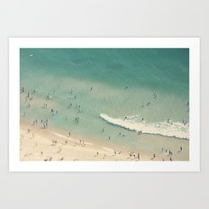 beach love II - Nazare Art Print