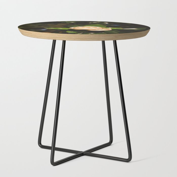 magnolia_golden_hour_Side_Table_by_jessie_morris__Black__Round