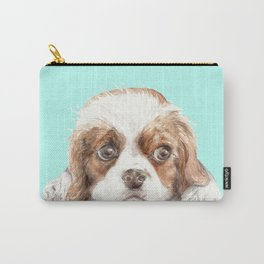 Cavalier King Charles Spaniel Dog Watercolor Pet Portrait Carry-All Pouch