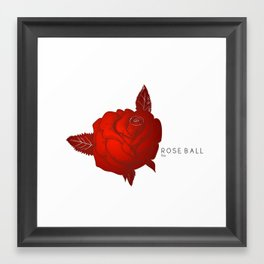 ROSE Ball Framed Art Print