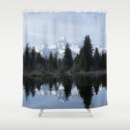 Grand Teton Reflections Shower Curtain