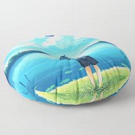 Tardis Art Flying Floor Pillow
