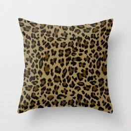 Leopard Print Pattern Throw Pillow