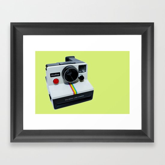 Polaroid OneStep Camera Framed Art Print