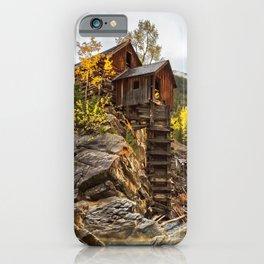 CRYSTAL MILL AUTUMN COLORADO FALL LANDSCAPE iPhone Case
