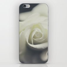 white rose II iPhone Skin