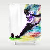 nfl Shower Curtains featuring 10 Point Underdogs - Savior by JsR_OtR