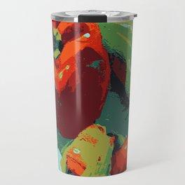 Peppers art print food kitchen art Travel Mug