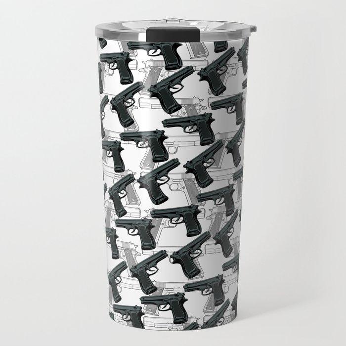 Gun Pattern Travel Mug