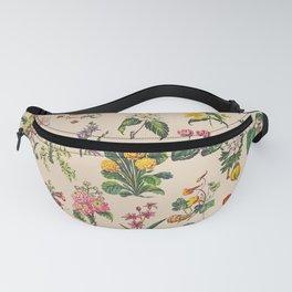 Vintage Botanical Florals Inspired from Victorian Botanists and Botanical Illustrators Fanny Pack