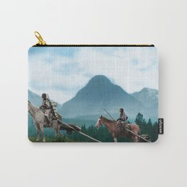 Waiting For The Hunters - Blackfoot Indian Women Carry-All Pouch