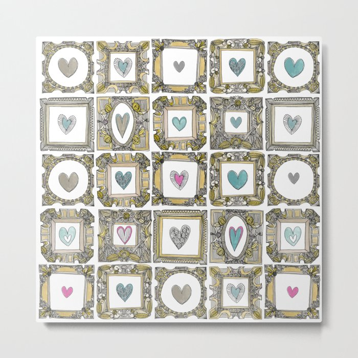 love heart frames Metal Print