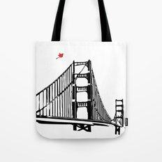 The Golden Gate Bridge Silhouette  Tote Bag
