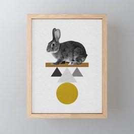 Tribal Rabbit Framed Mini Art Print