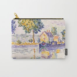 "Paul Signac ""View of the Seine, Samois"" Carry-All Pouch"