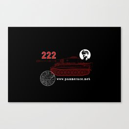 Michael Wittmann Panzer Ace 222 Villers Bocage Black Canvas Print