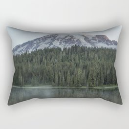 Sunrise at Reflection Lake - Mount Rainier Vertical Rectangular Pillow
