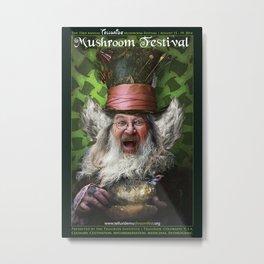Telluride Mushroom Festival 2014 Poster Art by 'inkling' Metal Print