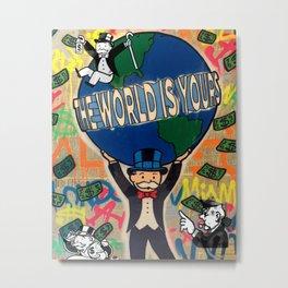 Monopoly man  the world is yours / Alec / Street art / Graffiti Metal Print