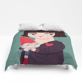 Amélie Poulain and the dwarf Comforters