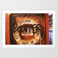 Chicago Scribbles Art Print