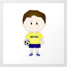Football Copa Boy Brazil 2014 Art Print