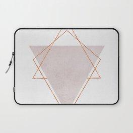 BLUSH COPPER ROSE GOLD GEOMETRIC SYNDROME II Laptop Sleeve