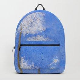 flying dandelion watercolor painting Backpack