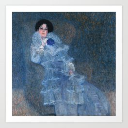 Portrait of Marie Henneberg Art Print