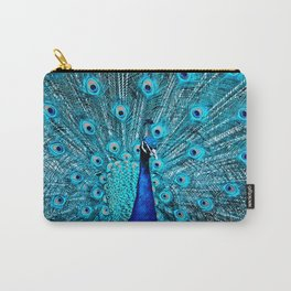 Peacock  Blue 11 Carry-All Pouch