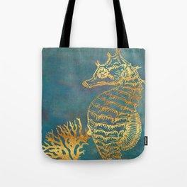 Deep Sea Life Seahorse Tote Bag