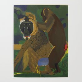 Baboon and Monkey Poster
