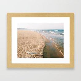 waves + surf Framed Art Print