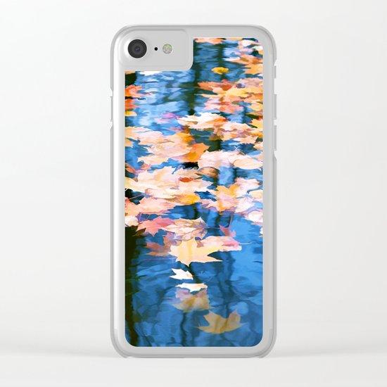 Fallen leaves in water Clear iPhone Case