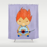 thundercats Shower Curtains featuring A Boy - Lion-O (Thundercats) by Christophe Chiozzi