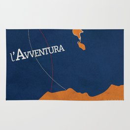 L'avventura, Monica Vitti, Michelangelo Antonioni, italian cinema, film, sea adventures, hollywood Rug