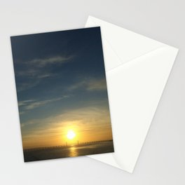 Sunset Over The New Seven Bridge, Reflecting On The River Seven Stationery Cards