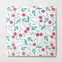 Sweet Red Cherries Metal Print
