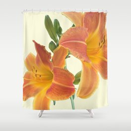 Garden Blooms - Orange Alone Shower Curtain
