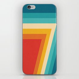 Colorful Retro Stripes  - 70s, 80s Abstract Design iPhone Skin