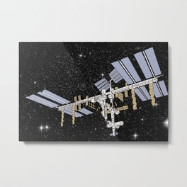 ISS- International Space Station Metal Print