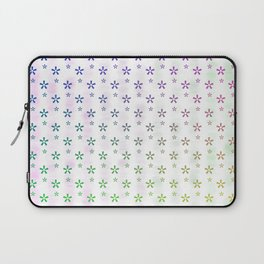 Ombre asterisk star large snowflakes Laptop Sleeve