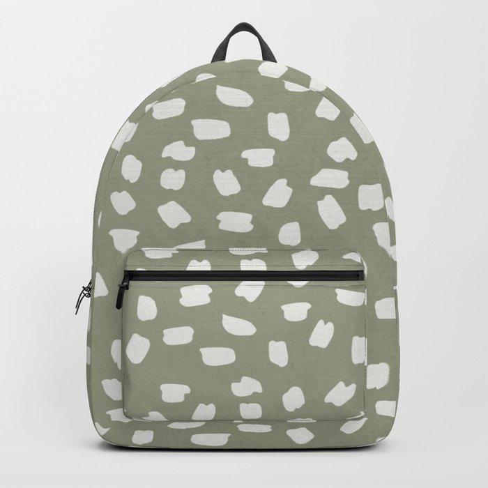 Simply Ink Splotch Lunar Gray on Green Tea Backpack